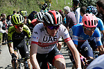 Dan Martin (IRL) UAE Team Emirates on the Ixua a brutal 20% off road climb during Stage 5 of the Tour of the Basque Country 2019 running 149.8km from Arrigorriaga to Arrate, Spain. 12th April 2019.<br /> Picture: Colin Flockton | Cyclefile<br /> <br /> <br /> All photos usage must carry mandatory copyright credit (© Cyclefile | Colin Flockton)