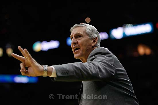 San Antonio - Jazz coach Jerry Sloan, 2nd quarter. Utah Jazz vs. San Antonio Spurs, Western Conference Finals game five at the AT&T Center..5.30.2007