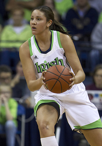 December 05, 2012:  Notre Dame forward Natalie Achonwa (11) during NCAA Women's Basketball game action between the Notre Dame Fighting Irish and the Baylor Bears at Purcell Pavilion at the Joyce Center in South Bend, Indiana.  Baylor defeated Notre Dame 73-61.