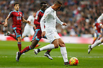 Real Madrid´s Danilo and Real Sociedad´s Bruma during La Liga match between Real Madrid and Real Sociedad at Santiago Bernabeu stadium in Madrid, Spain. December 30, 2015. (ALTERPHOTOS/Victor Blanco)