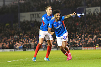 Ellis Harrison of Portsmouth scores and celebrates during Portsmouth vs Rotherham United, Sky Bet EFL League 1 Football at Fratton Park on 26th November 2019