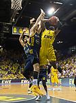 """02.06.2019, EWE Arena, Oldenburg, GER, easy Credit-BBL, Playoffs, HF Spiel 1, EWE Baskets Oldenburg vs ALBA Berlin, im Bild<br /> William""""Will"""" CUMMINGS (EWE Baskets Oldenburg #3 ) Martin HERMANNSON (ALBA Berlin #15 ) Joshiko SAIBOU (ALBA Berlin #1 )<br /> <br /> Foto © nordphoto / Rojahn"""