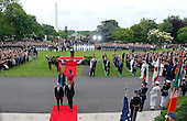 United States President Barack Obama, front right, and Felipe Calderon, Mexico's president, front left, walk towards the White House during an official state arrival on the South Lawn with U.S. First Lady Michelle Obama, Margarita Zavala, Calderon's wife, in Washington, D.C., U.S., on Wednesday, May 19, 2010. Obama welcomes Calderon to the White House today for an official state visit that is taking place amid tension over immigration politics and Mexico's deadly drug war. .Credit: Andrew Harrer / Pool via CNP