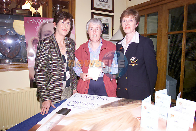 Helen Thornton (Ardee) Missing mary McCabe (Headford) Gross winners in the Lancome Open in Laytown & Bettystown Golf Club pictures with lady captain and Hilda Maher of Mahers Chemist..Picture Fran Caffrey Newsfile...This Picture is sent to you by:..Newsfile Ltd.The View, Millmount Abbey, Drogheda, Co Louth, Ireland..Tel: +353419871240.Fax: +353419871260.GSM: +353862500958.ISDN: +353419871010.email: pictures@newsfile.ie.www.newsfile.ie