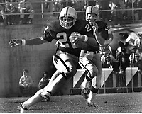 Oakland Raider Clarence Davis ftakes hand off from QB Daryle Lamonica..(1972 photo/Ron Riesterer)