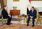 Egyptian President Abdel Fattah al-Sisi meets with a delegation of leaders of the American evangelical community, in Cairo, Egypt, on February 24, 2018. Photo by Egyptian President Office