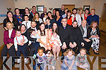 Vicky Smith and Albert McMahon, Ashgrove and Shanakill Tralee parents of Noah Sam McMahon who was Christened in St Brendans Church by Fr Padraig Walsh, celebrate the Christening with family and friends at Kerins O'Rahilly's Clubhouse on Saturday