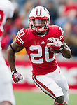 Wisconsin Badgers running back James White (20) carries the ball during an NCAA college football game against the South Dakota Coyotes on September 24, 2011 in Madison, Wisconsin. The Badgers won 59-10. (Photo by David Stluka)