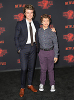 Gaten Matarazzo &amp; Joe Keery at the premiere for Netflix's &quot;Stranger Things 2&quot; at the Westwood Village Theatre. Los Angeles, USA 26 October  2017<br /> Picture: Paul Smith/Featureflash/SilverHub 0208 004 5359 sales@silverhubmedia.com
