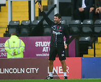 Lincoln City manager Danny Cowley shouts instructions to his team from the technical area<br /> <br /> Photographer Andrew Vaughan/CameraSport<br /> <br /> The EFL Sky Bet League One - Lincoln City v Fleetwood Town - Saturday 31st August 2019 - Sincil Bank - Lincoln<br /> <br /> World Copyright © 2019 CameraSport. All rights reserved. 43 Linden Ave. Countesthorpe. Leicester. England. LE8 5PG - Tel: +44 (0) 116 277 4147 - admin@camerasport.com - www.camerasport.com