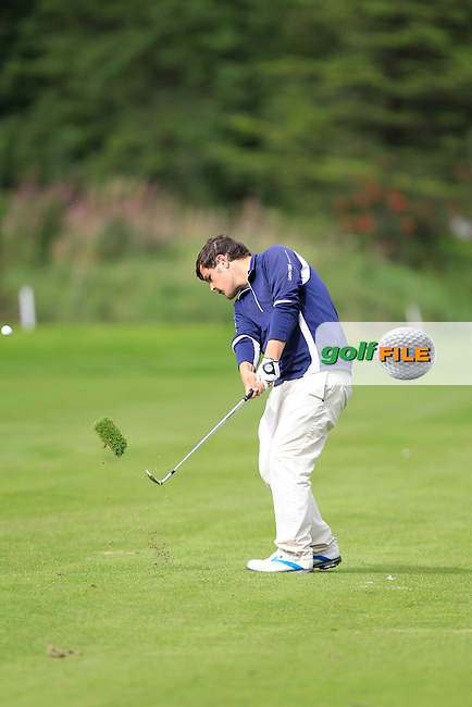 Stuart Bleakley (Shandon Park) on the 3rd during Day 2 of the Irish Youths Amateur Close Championship at Claremorris Golf Club on Thursday 29th August 2013 <br /> Picture:  Thos Caffrey/ www.golffile.ie