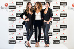Mar Saura, Monica Estarreado and Mireia Canalda during Senmark 40th. Aniversary Fashion Show at Circulo de Bellas Artes in Madrid, Ocotber 15, 2015.<br /> (ALTERPHOTOS/BorjaB.Hojas)
