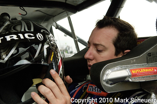 June 11 2010: Kyle Busch in his Toyota Tundra race truck before practice for the VFW 200 NASCAR Camping World Truck Series race at Michigan International Speedway, Brooklyn, Michigan