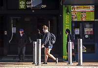 Courtenay Place at 3.30pm on Thursday during lockdown for COVID19 pandemic in Wellington, New Zealand on Thursday, 9 April 2020. Photo: Dave Lintott / lintottphoto.co.nz