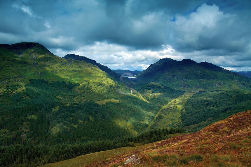 Ben Vane and Ben Vorlich, the Arrochar Alps from Cruach Tairbeirt, Loch Lomond and the Trossachs National Park, Argyll & Bute