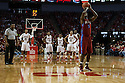 November 17, 2013: Adama Adams (5) of the South Carolina State Bulldogs misses  a technical against Walter Pitchford (35) of the Nebraska Cornhuskers at the Pinnacle Bank Areana, Lincoln, NE. Nebraska defeated South Carolina State 83 to 57.