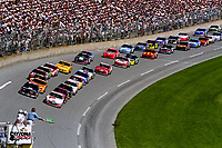 Pole-sitter Loy Allen leads the filed to the green flag to start the Daytona 500, NASCAR Winston Cup race, Daytona International Speedway, Daytona Beach, FL, February 1994(Photo by Brian Cleary/bcpix.com)