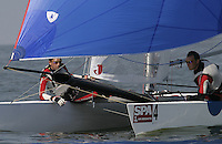 20th SPA Regatta - Medemblik.26-30 May 2004..Copyright free image for editorial use. Please credit Peter Bentley..Olivier Backes - FRA