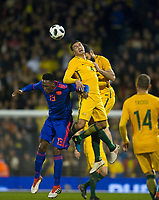 Australia Tim Cahill during the International Friendly match between Colombia and Australia at Craven Cottage, London, England on 27 March 2018. Photo by Andrew Aleksiejczuk / PRiME Media Images.