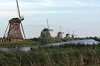 The Windmills of Kinderdijk in Netherlands