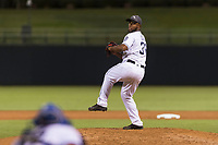 AFL West relief pitcher Miguel Diaz (36), of the Peoria Javelinas and San Diego Padres organization, delivers a pitch during the Arizona Fall League Fall Stars game at Surprise Stadium on November 3, 2018 in Surprise, Arizona. The AFL West defeated the AFL East 7-6 . (Zachary Lucy/Four Seam Images)