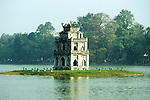 Tortoise Tower 01 - Thap Rua, the Tortoise Tower, on Hoan Kiem Lake, Hanoi Old Quarter, Viet Nam