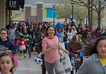 Children start the mad dash to collect eggs during the Easter Egg Hunt at Legends in Sparks, Nevada on Saturday, April 20, 2019..