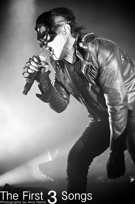Marilyn Manson performs at the House of Blues in Cleveland, Ohio.