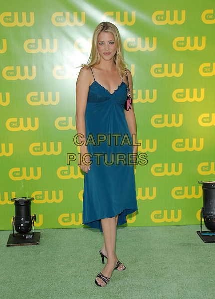 JULIE GONZALO.The CW Launch Party held at Warner Brothers' Studios in Burbank, California, USA..September 18th, 2006.Ref: DVS.full length blue dress.www.capitalpictures.com.sales@capitalpictures.com.©Debbie VanStory/Capital Pictures