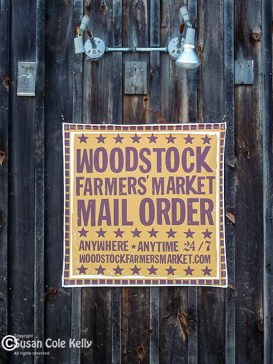 The Woodstock Farmers Market in Woodstock, VT, USA