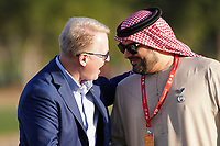 Keith Pelley (CEO European Tour) during the prize giving presentation of the Abu Dhabi HSBC Championship at the Abu Dhabi Golf Club, Abu Dhabi, United Arab Emirates. 19/01/2020<br /> Picture: Golffile | Thos Caffrey<br /> <br /> <br /> All photo usage must carry mandatory copyright credit (© Golffile | Thos Caffrey)