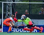 Den Bosch  - keeper Pirmin Blaak (Ned)  redt   tijdens   de Pro League hockeywedstrijd heren, Nederland-Belgie (4-3).    COPYRIGHT KOEN SUYK