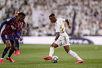 1st March 2020; Estadio Santiago Bernabeu, Madrid, Spain; La Liga Football, Real Madrid versus Club de Futbol Barcelona; Vinicius Junior (Real Madrid) takes on Nélson Semedo of Barca