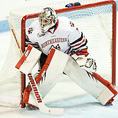Derick Roy (NU - 1) - The visiting Bentley University Falcons defeated the Northeastern University Huskies 3-2 on Friday, October 16, 2015, at Matthews Arena in Boston, Massachusetts.