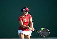 Kristie Ahn of the 2010 Stanford women's Tennis Team.