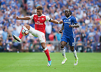 Alex Oxlade-Chamberlain of Arsenal conrtrols the ball during the FA Cup Final match between Arsenal v Chelsea, Wembley stadium, London on 27th May 2017