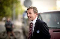 Bernd Lucke, Parteivorsitzender der AfD (Alternative f&uuml;r Deutschland) kommt am Montag (15.09.14) in Berlin zu einer Pressekonferenz zu den Landtagswahlen in Th&uuml;ringen und Brandenburg.<br /> Foto: Axel Schmidt/CommonLens
