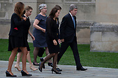 Guests, including United States Senator Roy Blunt (Republican of Missouri), right, arrive for the funeral service for late US Senator John McCain (Republican of Arizona) at the Washington National Cathedral in Washington, DC on September 1, 2018. <br /> Credit: Alex Edelman / CNP