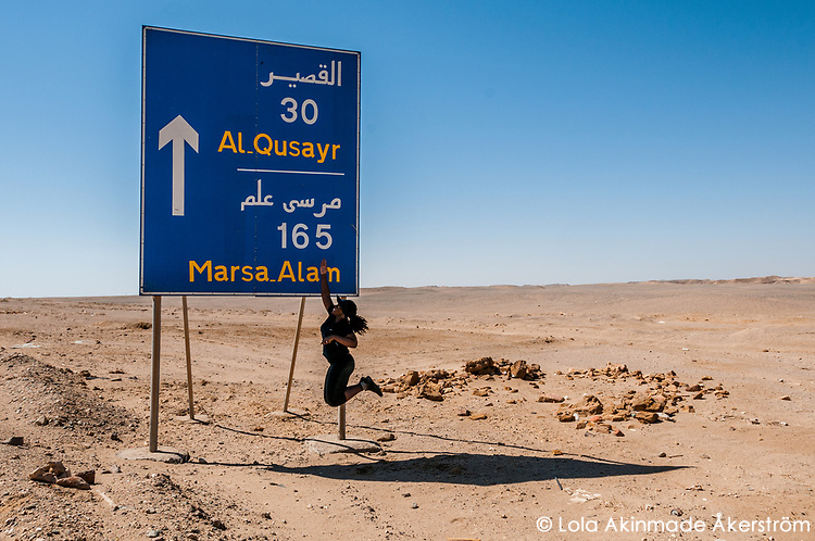 Featured contributor Lola jumps for joy during a pitstop en route to Al Qusayr