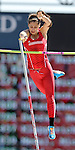 SIOUX FALLS, SD - MAY 2:  Madison Mills from the University of South Dakota clears the bar in the pole vault Friday afternoon at the Howard Wood Dakota Relays. (Photo by Dave Eggen/Inertia)