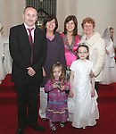 David Kirwin, Lisa Grant, Julie and Moya Kirwin and Anette McKenna at the First Holy Communion in Walshestown...Photo NEWSFILE/Jenny Matthews.(Photo credit should read Jenny Matthews/NEWSFILE)....This Picture has been sent you under the condtions enclosed by:.Newsfile Ltd..The Studio,.Millmount Abbey,.Drogheda,.Co Meath..Ireland..Tel: +353(0)41-9871240.Fax: +353(0)41-9871260.GSM: +353(0)86-2500958.email: pictures@newsfile.ie.www.newsfile.ie.FTP: 193.120.102.198.