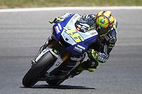 14.06.2013 Barcelona, Spain. Gran Premi Aperol de Catalunya. Free practice 2. Picture show Valentino Rossi ridding Yamaha at Circuit de Catalunya