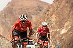 The breakaway group Danny Pate (USA) Rally Cycling and Markel Irizar (ESP) Trek-Segafredo from the breakaway group in the Green Mountains during Stage 2 of the 2018 Tour of Oman running 167.5km from Sultan Qaboos University to Al Bustan. 14th February 2018.<br /> Picture: ASO/Muscat Municipality/Kare Dehlie Thorstad | Cyclefile<br /> <br /> <br /> All photos usage must carry mandatory copyright credit (&copy; Cyclefile | ASO/Muscat Municipality/Kare Dehlie Thorstad)