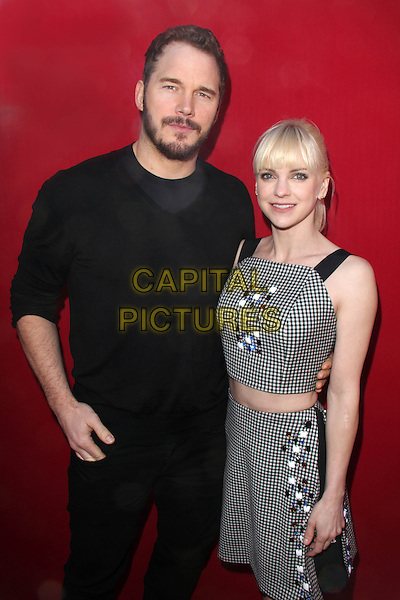WESTWOOD, CA - February 01: Chris Pratt &amp; Anna Faris at the &quot;The Lego Movie&quot; Los Angles Premiere, Village Theatre, Westwood,  February 01, 2014.  <br /> CAP/MPI/JO<br /> &copy;Janice Ogata/MediaPunch/Capital Pictures