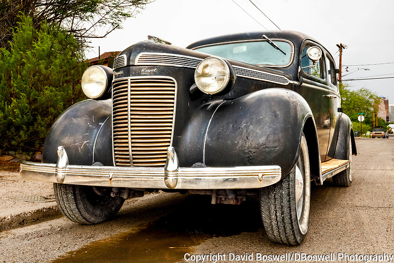 A 1930's Chrysler Royal in the barrios south of Downtown Tucson.