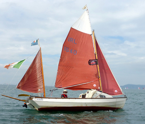 Cork Harbour guru Jack O'Keeffe in his Drascombe