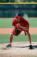 Patrick Corbin, Anaheim Angels 2nd round draft choice, works out at the Angels minor league complex in Tempe, AZ prior to beginning his professional career with the Orem Owlz of the Pioneer League..Photo by:  Bill Mitchell/Four Seam Images.