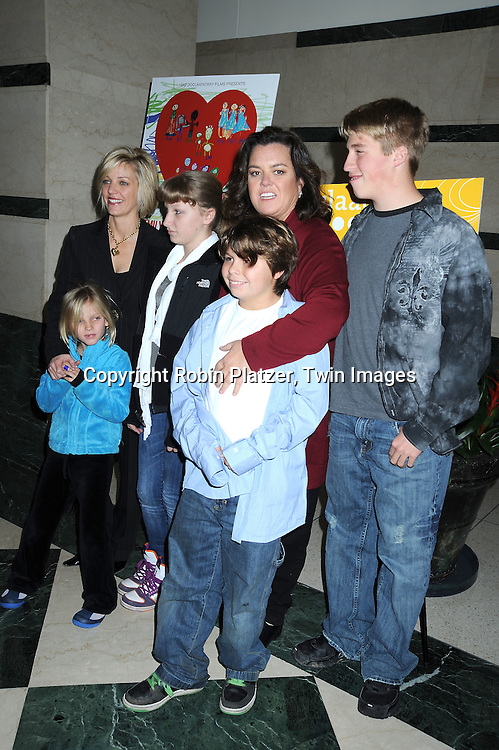 Kelli Carpenter and Rosie O' Donnell and family Vivienne, Chelsea, Blake and Parker