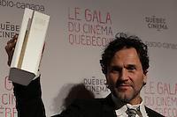 Martin Leon<br /> , winner best original music for GUIBORD S'EN VA T EN GUERRE<br /> at the Gala du cinema Quebecois, March 20, 2016<br /> <br /> Photo : Pierre Roussel - Agence Quebec Presse