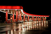 November 4, 2008. Mebane, NC.. A Sheetz at night.